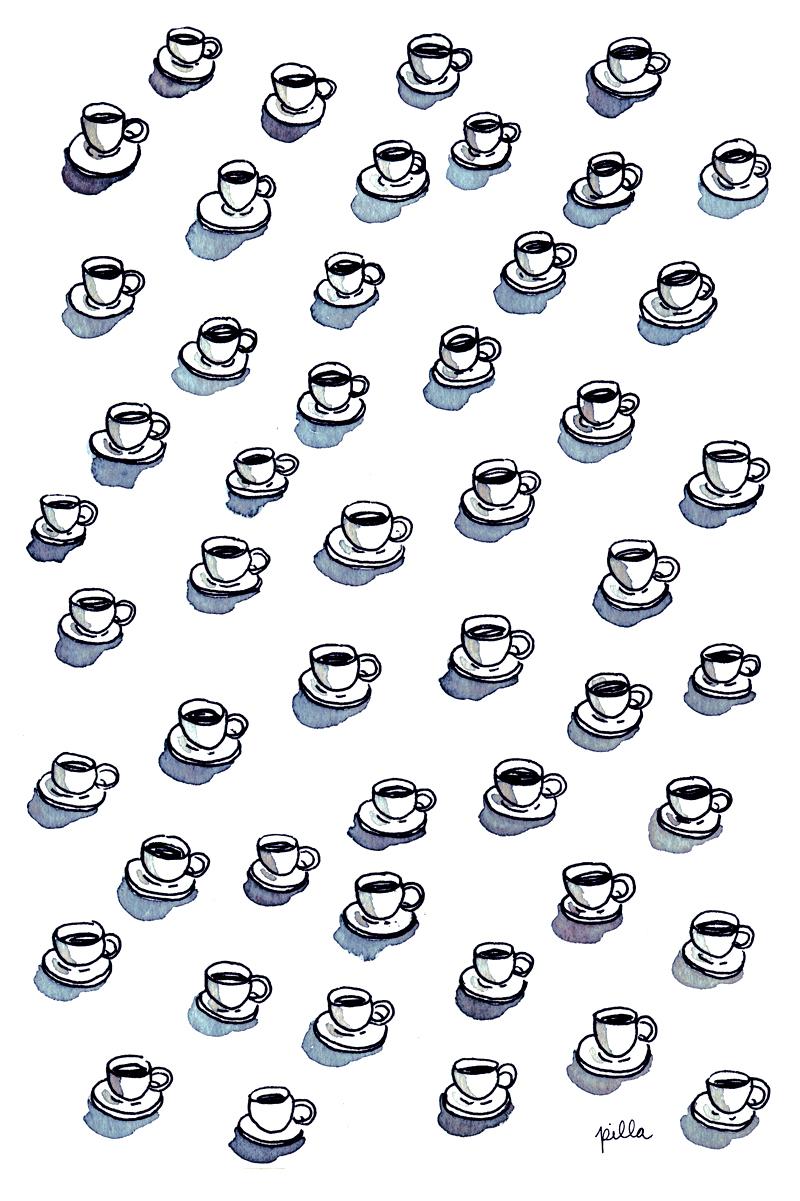 cafe pattern-baja