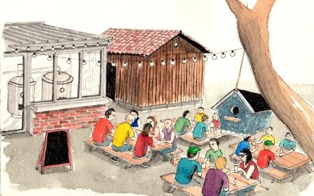 malting pot watercolour